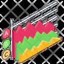 Mountain Chart Data Chart Business Graph Icon