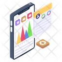 Mobile Analytics Mobile Graph Mountain Chart Icon