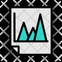 Mountain Chart Triangle Graph Area Chart Icon