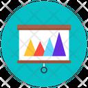 Mountain Chart Presentation Mountain Chart Data Analytics Icon