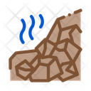 Mountain Collapse Construction Icon