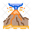 Mountain Eruption Landscape Icon