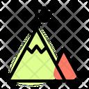Mountain Flag Success Goal Icon