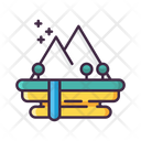 World Mountain Game Landscape Icon