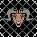 Goat Mascot Goat Face Mountain Goat Icon