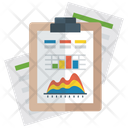 Mountain Graph Mountain Chart Financial Graph Icon