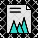 Mountain Graph File Mountain Graph Data Visualization Icon