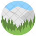 Landform Valley Countryside Icon