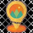 Pin Location Mountain Icon