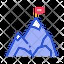 Mountain Flag Peak Icon