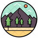 Landscape Natural View Hill Station Icon