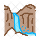 Mountain Ravines Landscape Icon