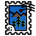 Mountain Stamp Icon