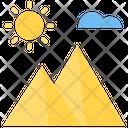 Mountain Mountain Sunrise Pyramid Icon