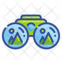 Mountain View Binoculars Sight Icon