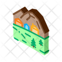 Mountain Village Camping Icon