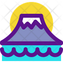 Mountain Volcano Mountain Icon