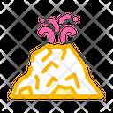 Mountain Volcano Volcano Lava Icon