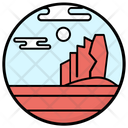 Mountainous Region Landscape Hill Station Icon