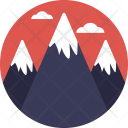 Mountains Hills Landscape Icon