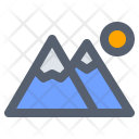 Camping Landscape Mountain Icon