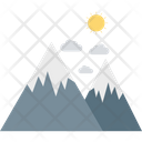 Mountains Hills Scenery Icon