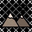 Mountains Nature Landscape Icon