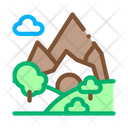 Mountain Landscape Travel Icon