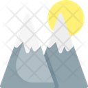 Mountains Sun Nature Icon