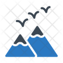 Mountains Birds Spring Icon