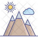 Cloud Mountains Nature Icon