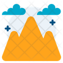 Mountains Nature Landscape Icon