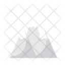 Glaciers Mountains Nature Icon