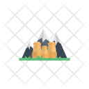 Mountains Hills Monument Icon