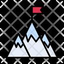 Mountains Hills Rock Icon