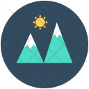 Mountains Hills Snowy Icon