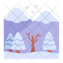 Mountains Snow Landscape Icon