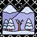 Mountains Snow Landscape Icon