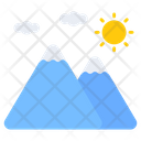 Mountains Landforms Cloud Mountains Icon