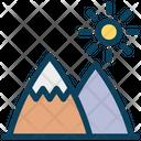 Mountains Sun Park Icon