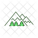 Mountain Forest Nature Icon