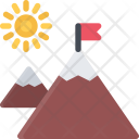 Mountains Camping Icon