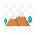 Mountains Trees Nature Icon