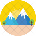 Mountains Hills Rocks Icon