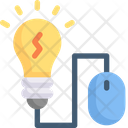 Mouse With Bulb Icon