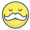 Moustache Man Mascot Icon