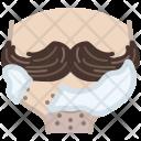 Moustache Shaving Avatar Icon