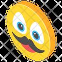 Moustache Emoji Icon
