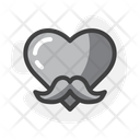 Moustache Heart Icon