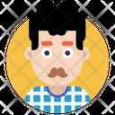 Moustache Man Icon